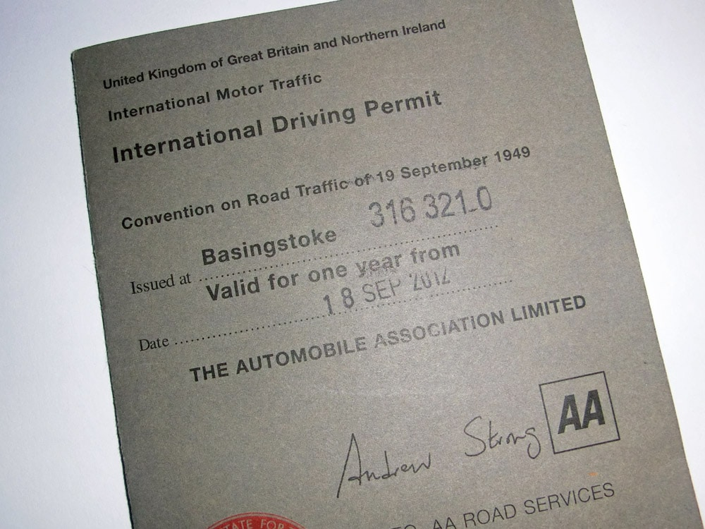 International Driving Licence Application Form Download