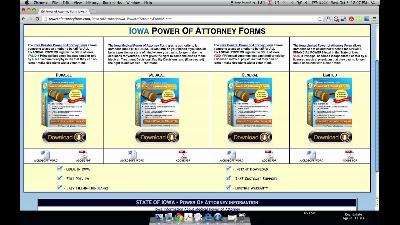 Iowa State Bar Association Durable Power Of Attorney Forms