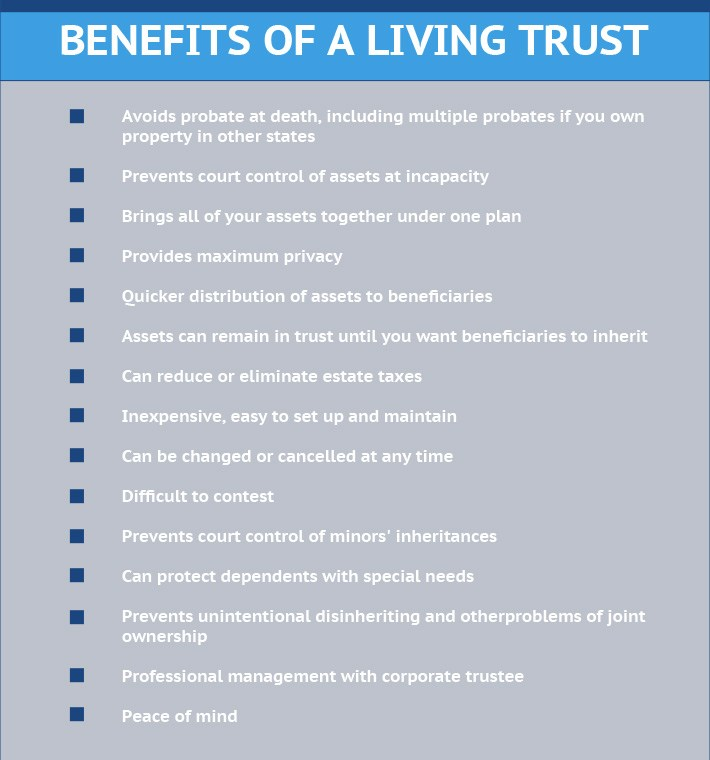 Benefits Of A Living Trust