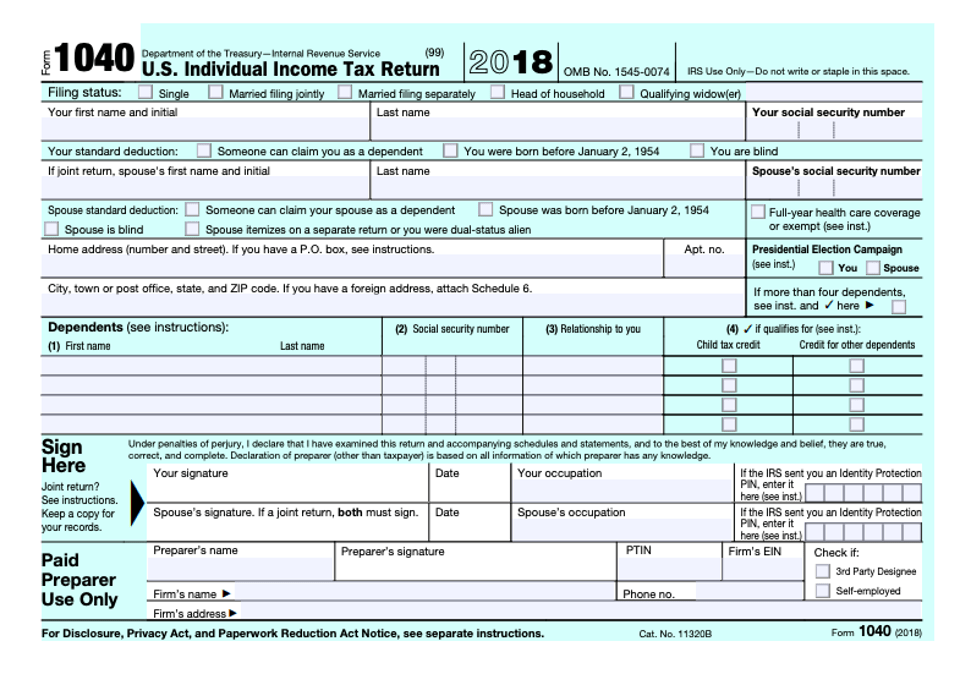 Irs 1040ez Forms To Print