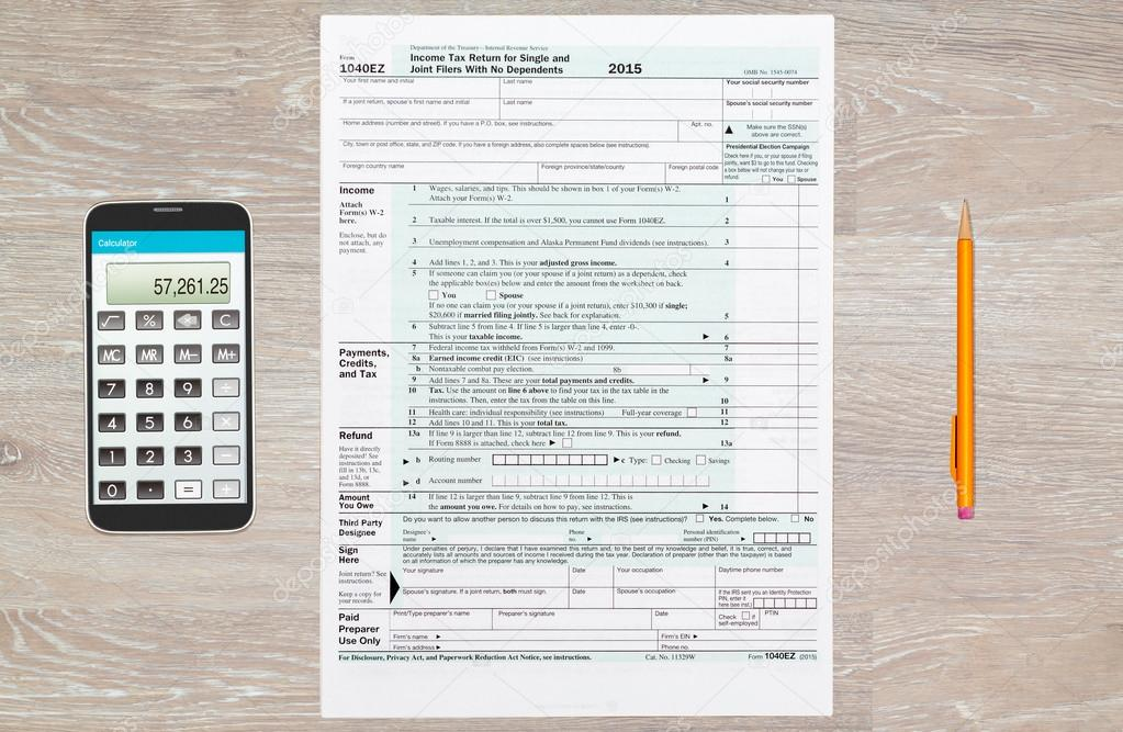 Irs 1040ez Tax Form 2015