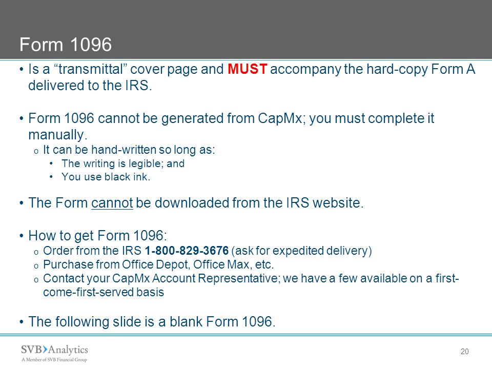 Irs 1096 Form Download
