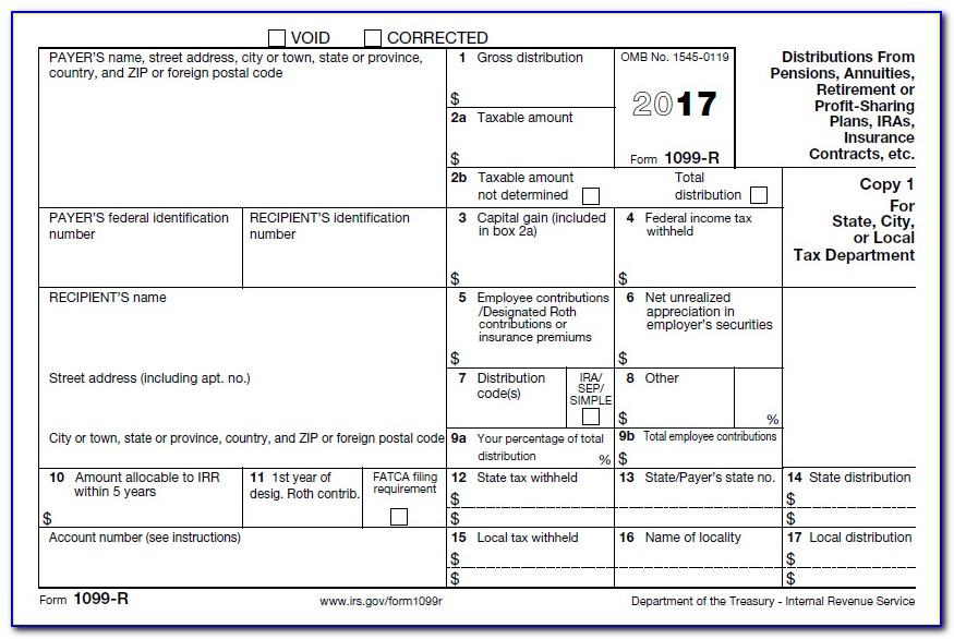 Irs 1099 Employer Form