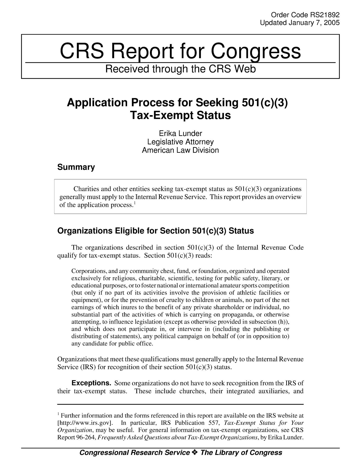 Irs 501c3 Application Status Check
