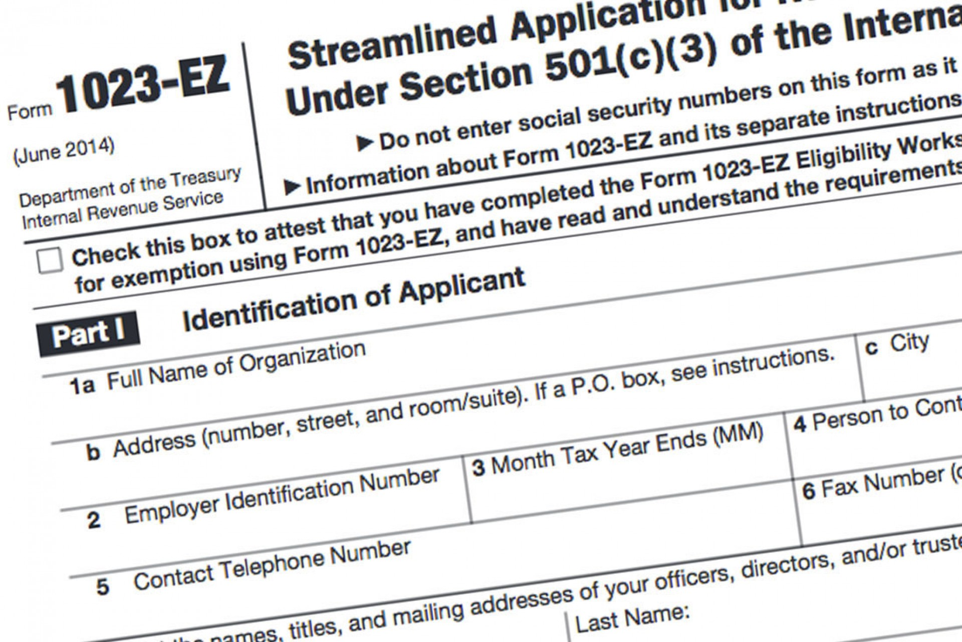 Irs 501c3 Ez Form