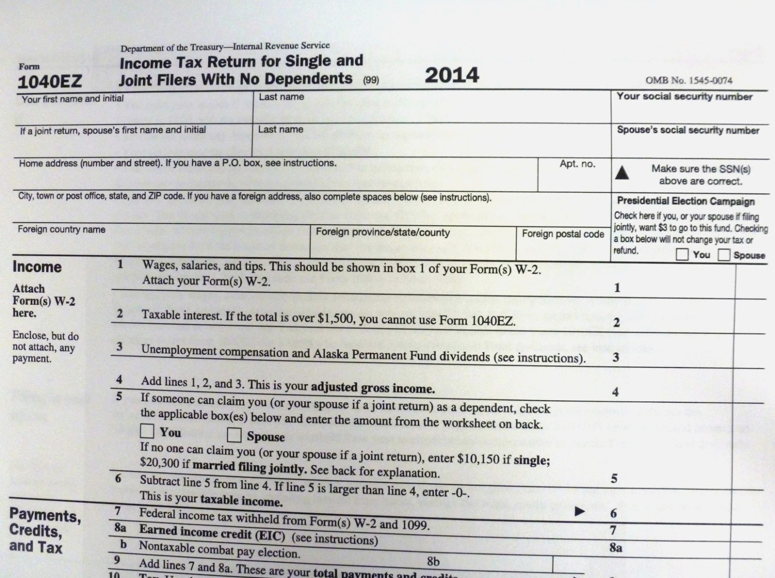 Irs Ez Forms 2016