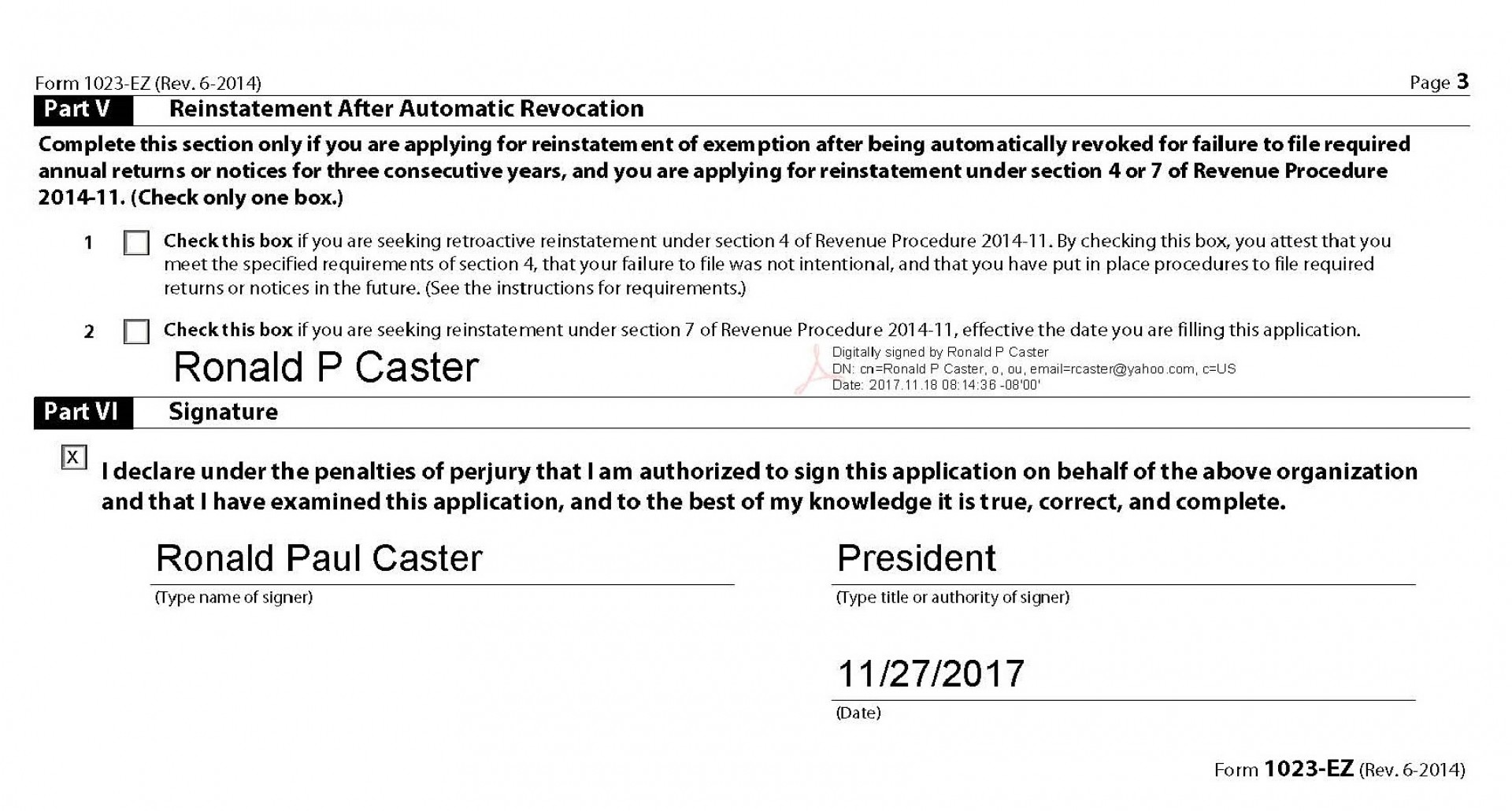 Irs Form 1023 Ez Instructions