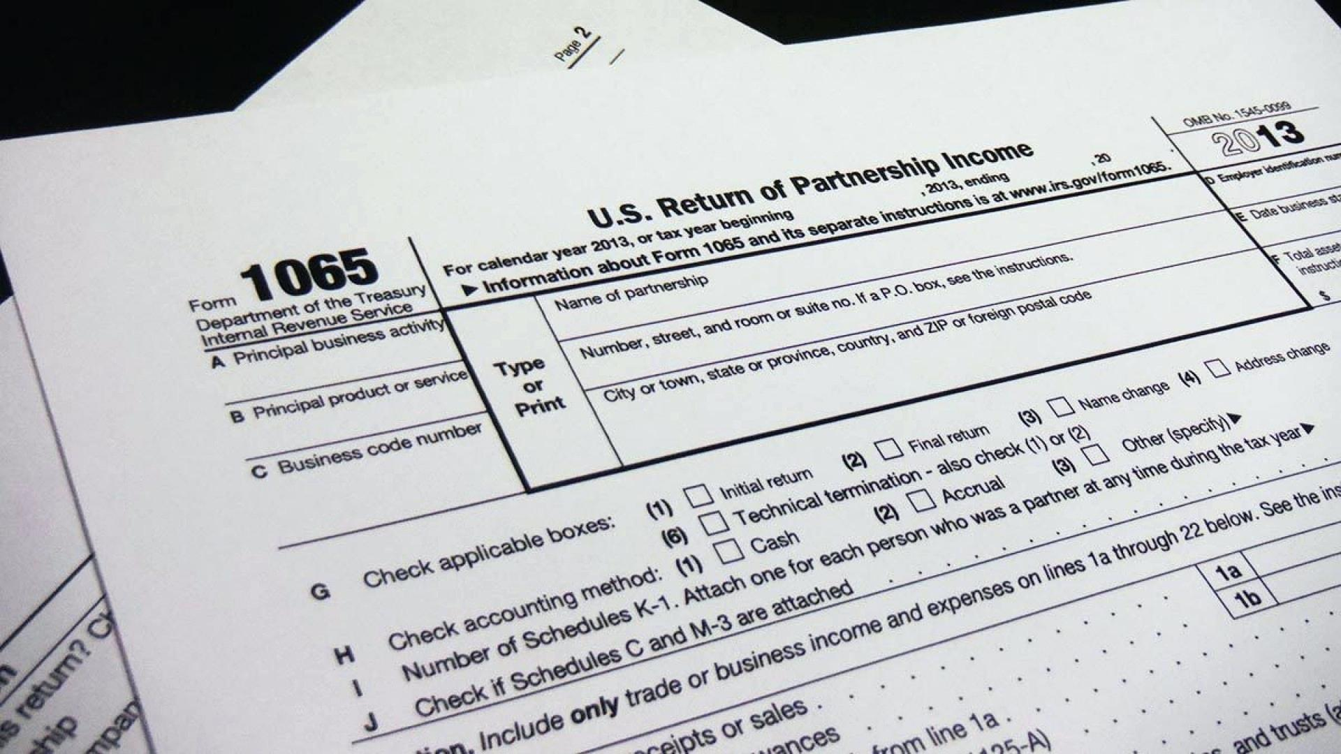 Irs Form 1065 Extension