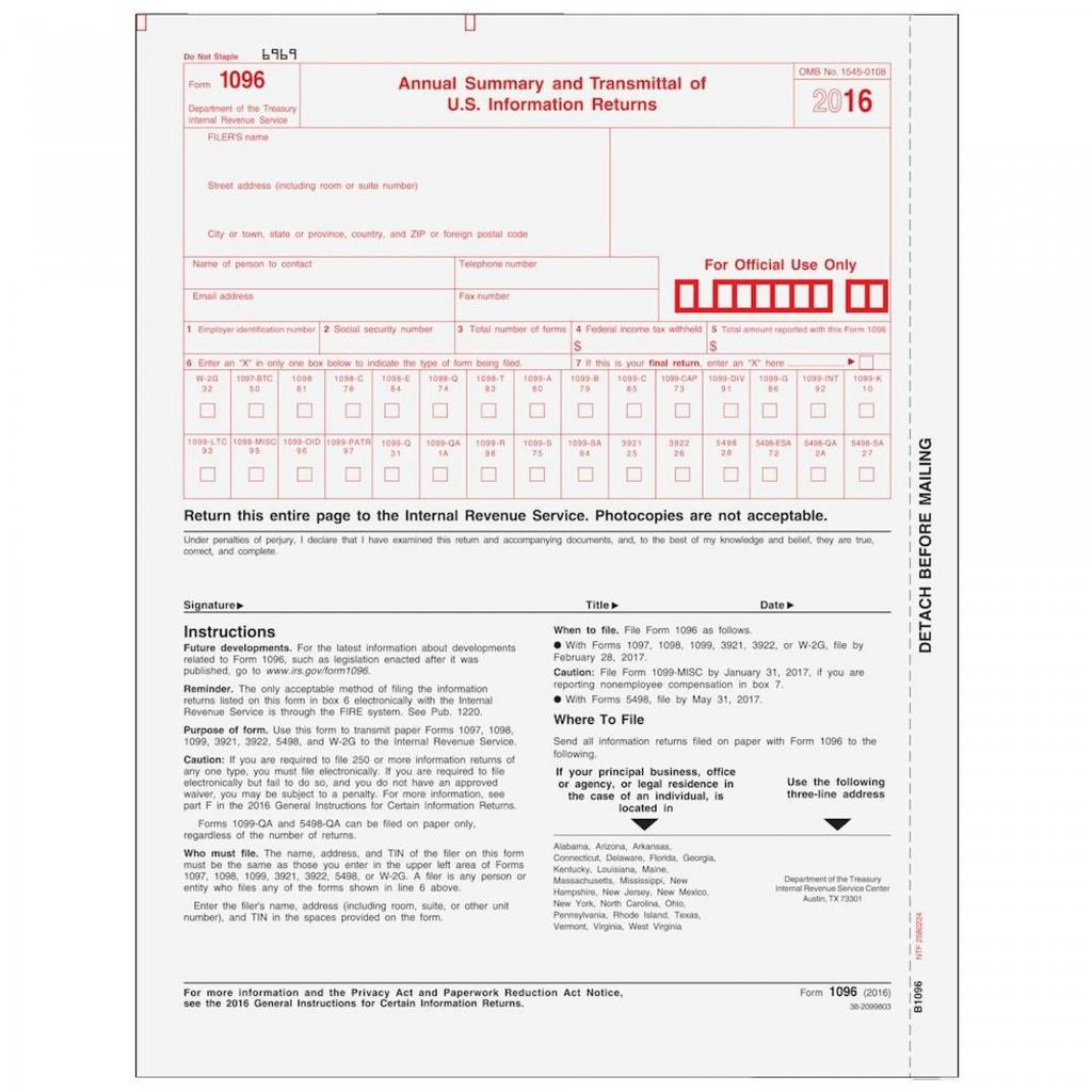 Irs Form 1096 Extension