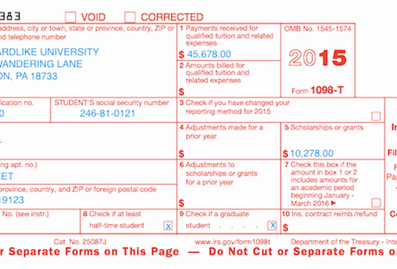 Irs Form 1098 Mortgage Interest Statement