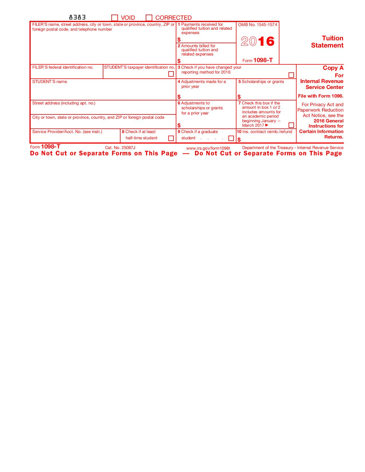 Irs Form 1098 T Box 7
