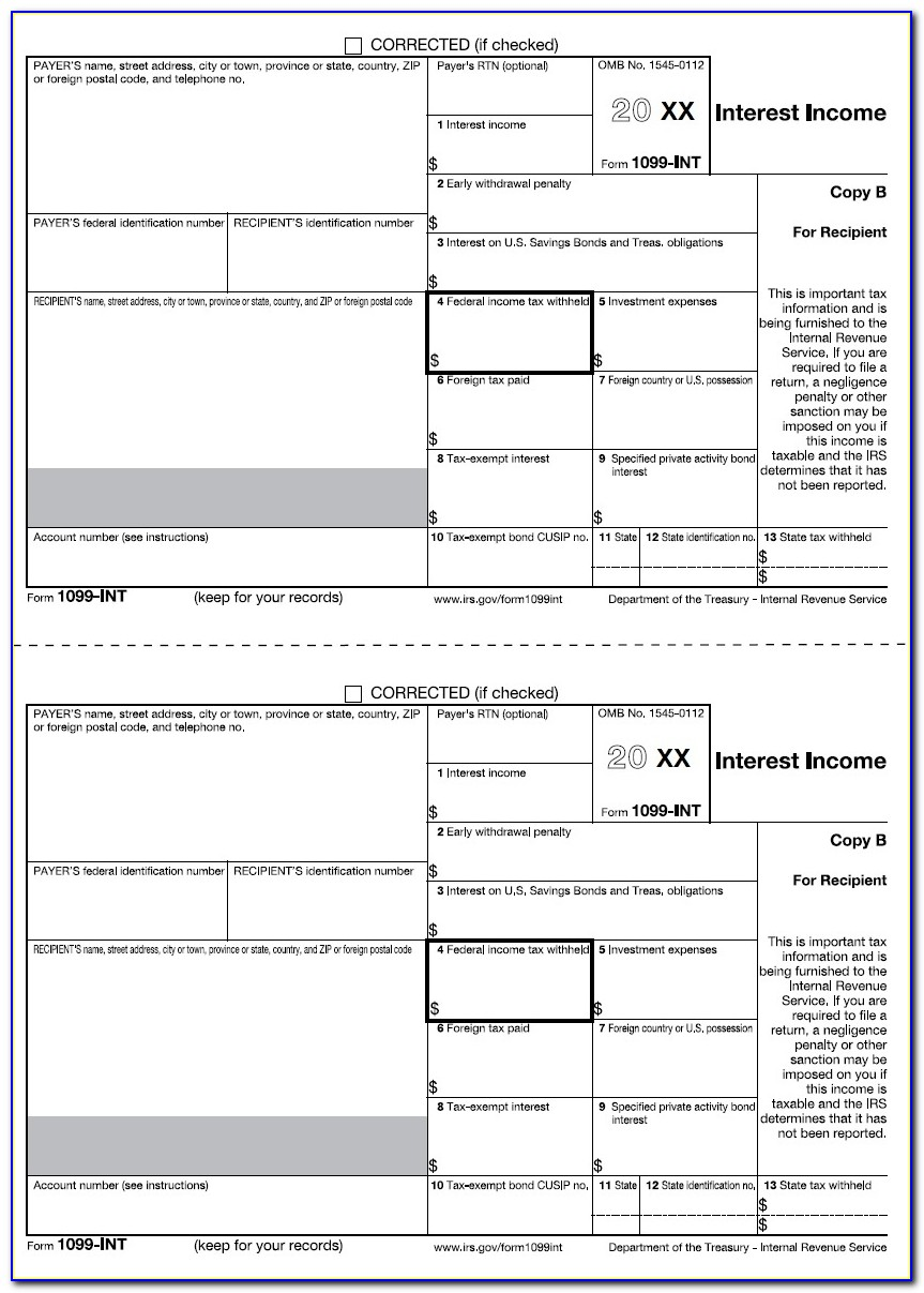 Irs Form 1099 Int Instructions