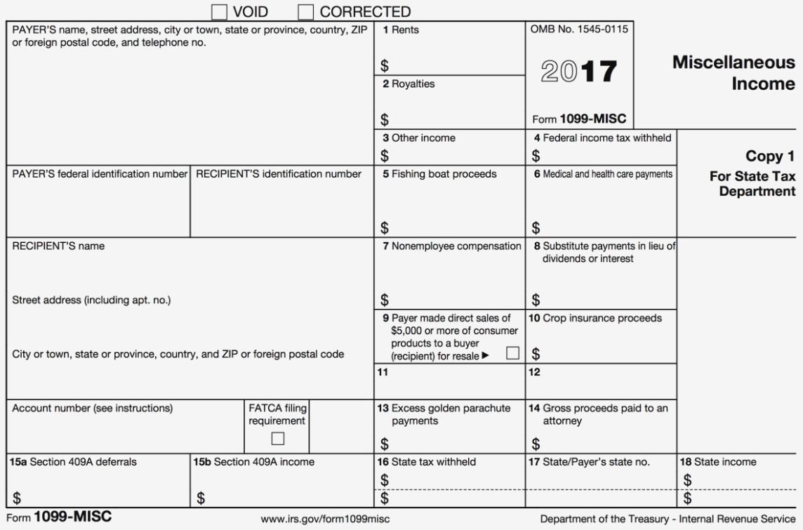Irs Form 1099 Misc 2017 Order