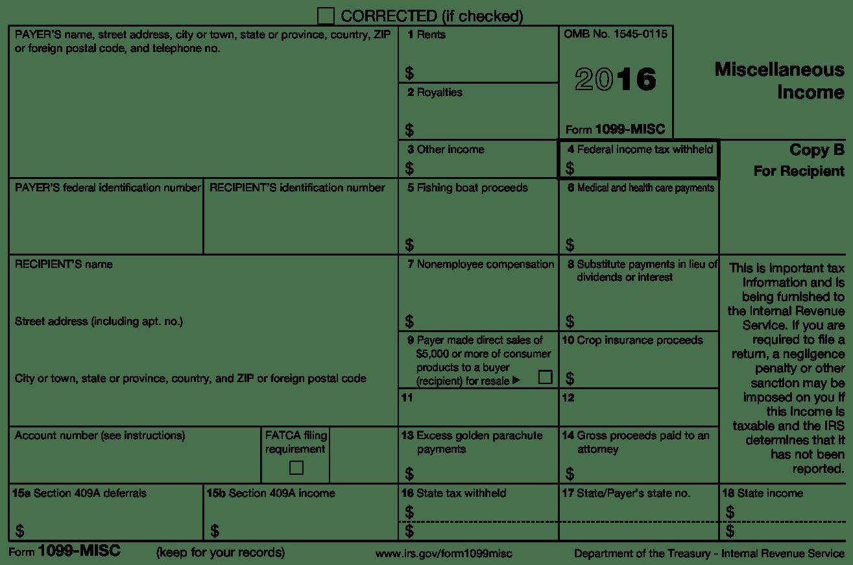 Irs Form 1099 Misc Box 7