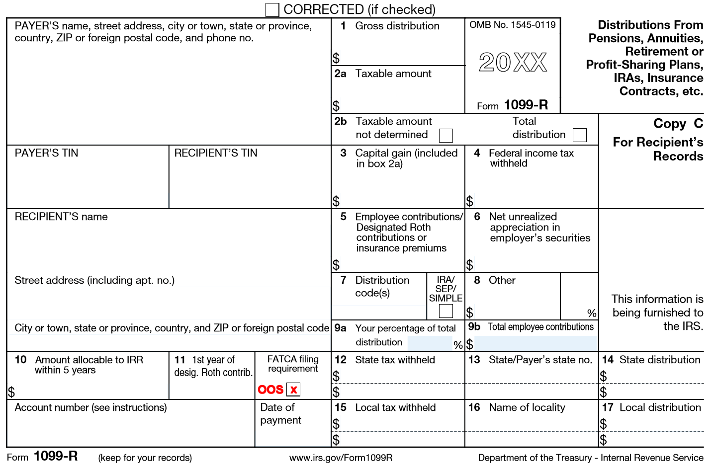Irs Form 1099 R Distribution Code G