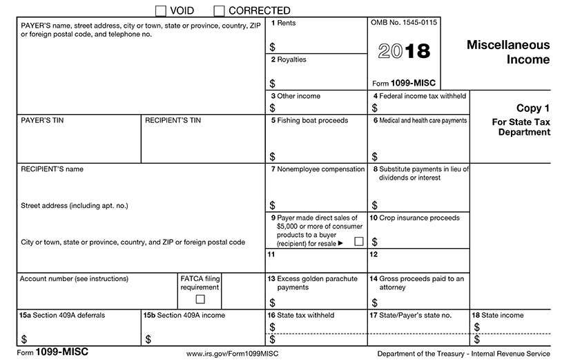 Irs Form 1099 Requirements