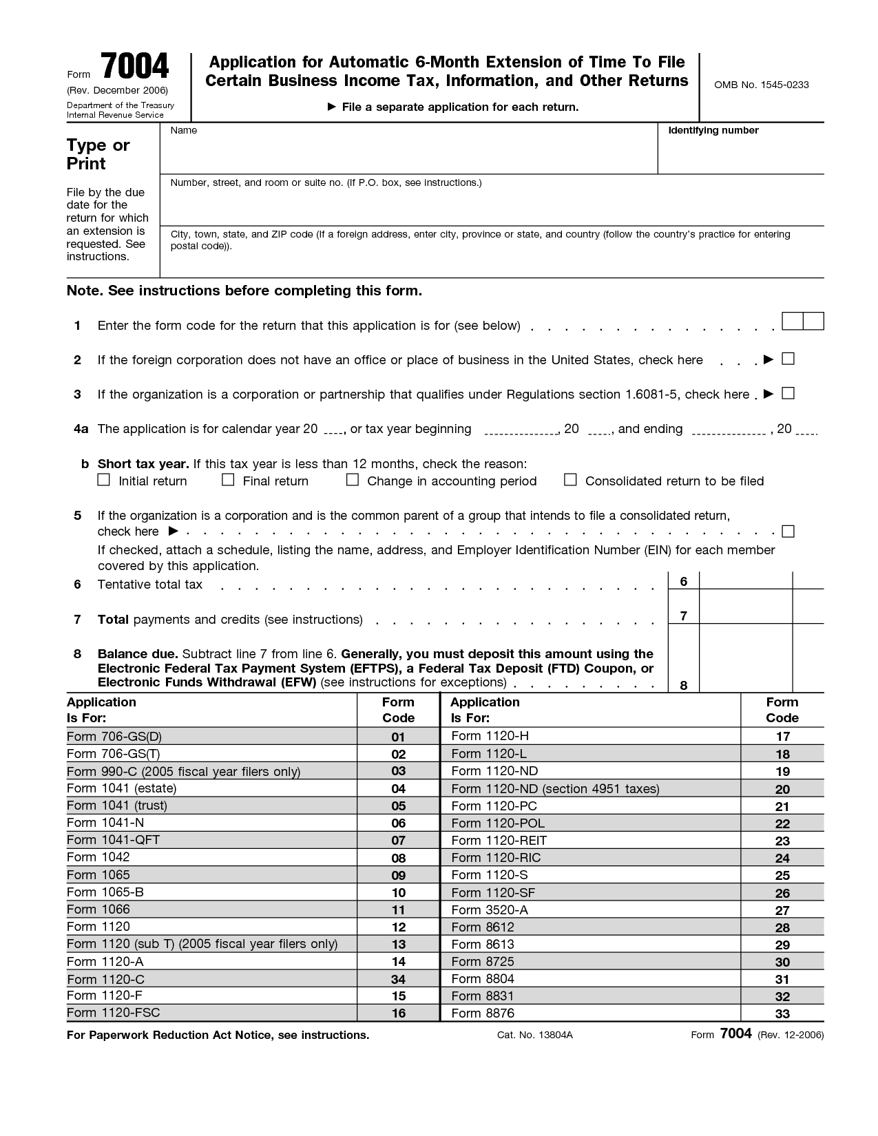 Irs Form 7004 Required To Be E Filed