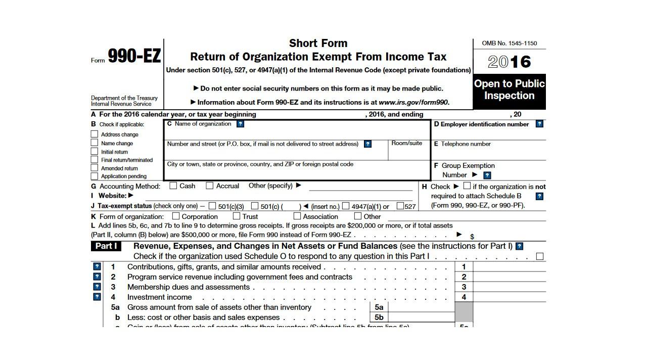 Irs Form 990 Ez Extension