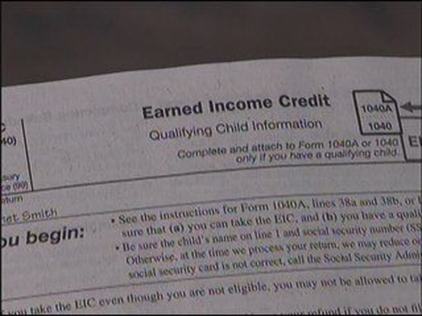Irs Forms 1040a 2012 Instructions