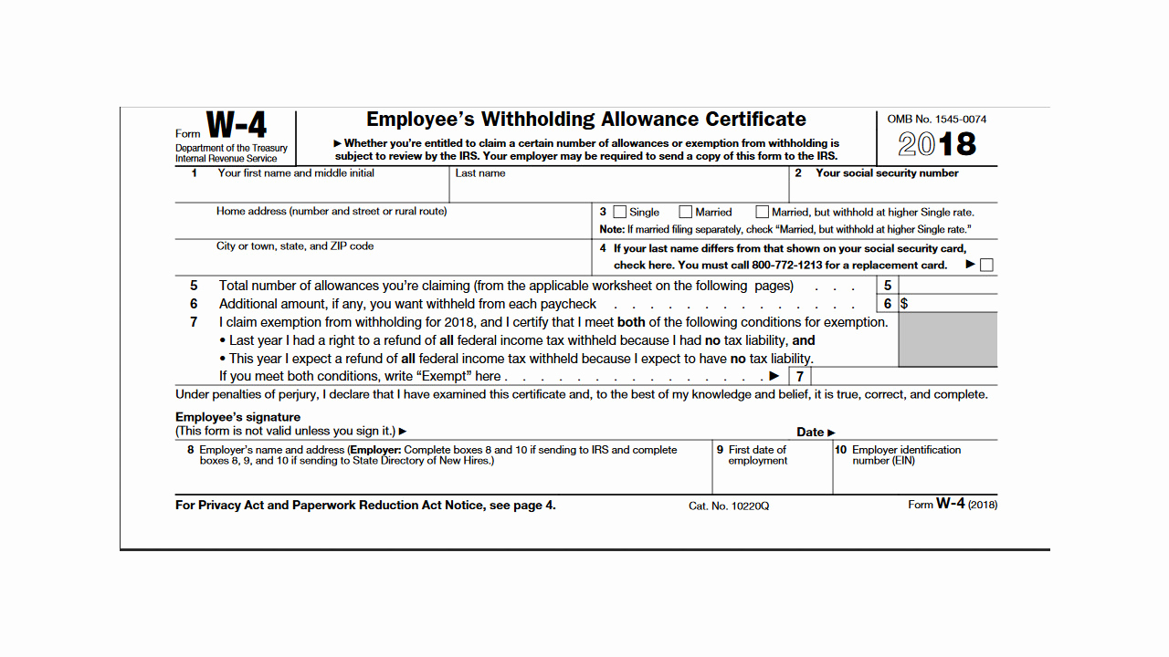 W4p Withholding Table Inspirational Irs Releases New 2018 W 4 Form