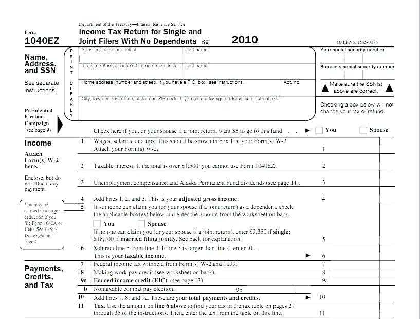 Irs Forms 1040ez Tax Table 2016