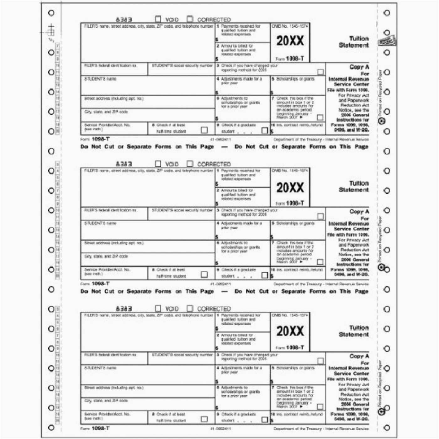 Irs Forms 1098 And 1099