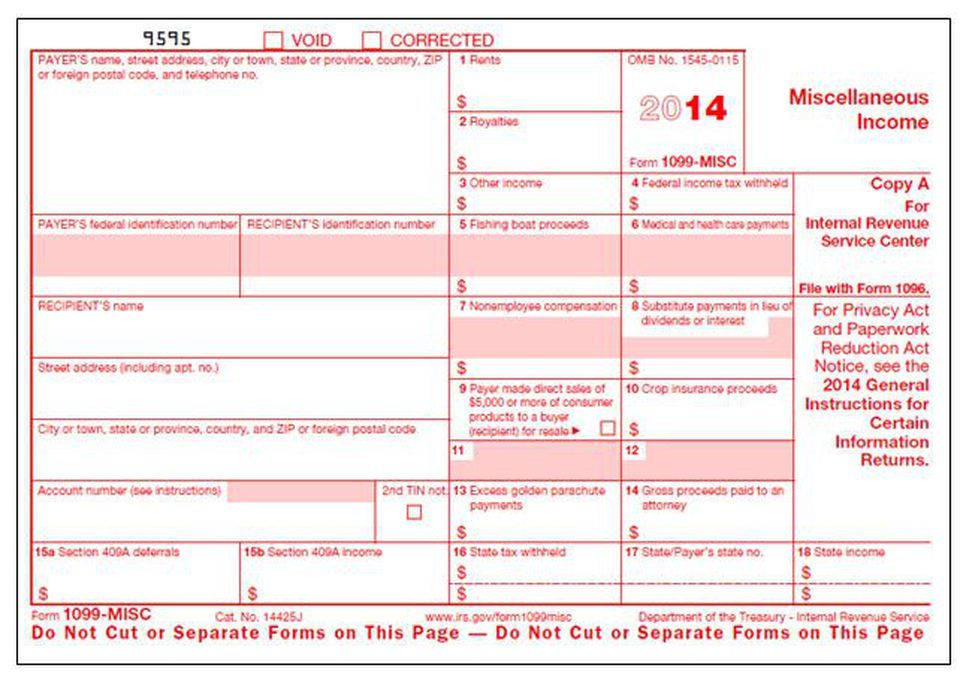 Irs Forms 1099 Interest