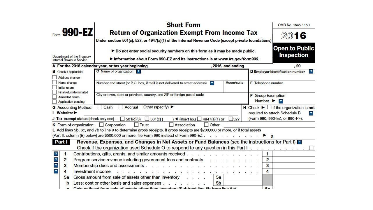 Irs Forms 990 Ez 2015