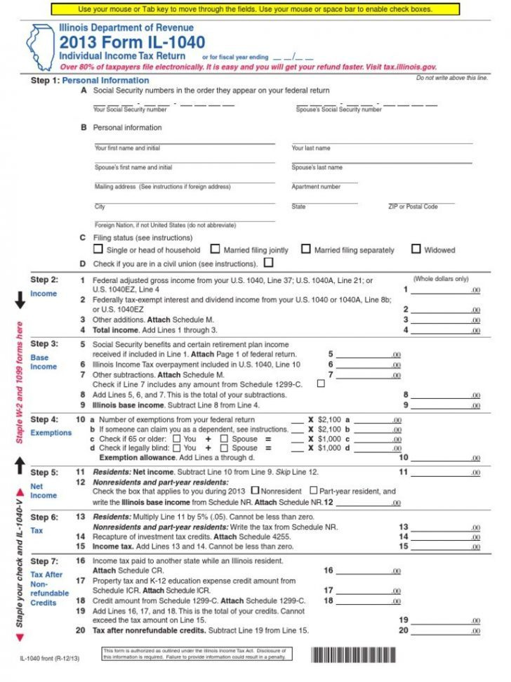 Irs Income Tax Forms 1040ez