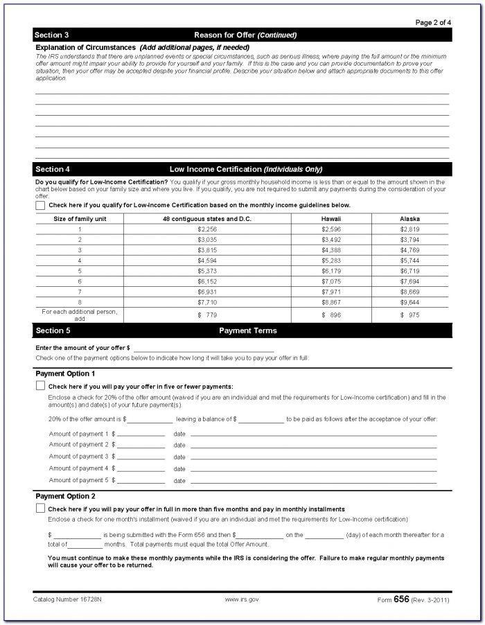 Irs Offer In Compromise Form