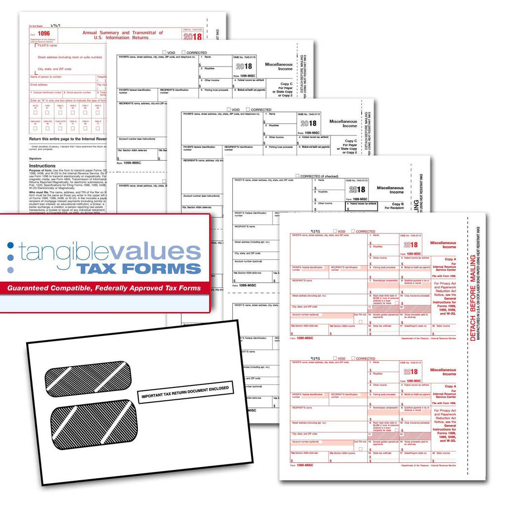 Irs Form I 9 Download Awesome Amazon Tangible Values 1099 Misc Laser Forms 4 Part Kit With