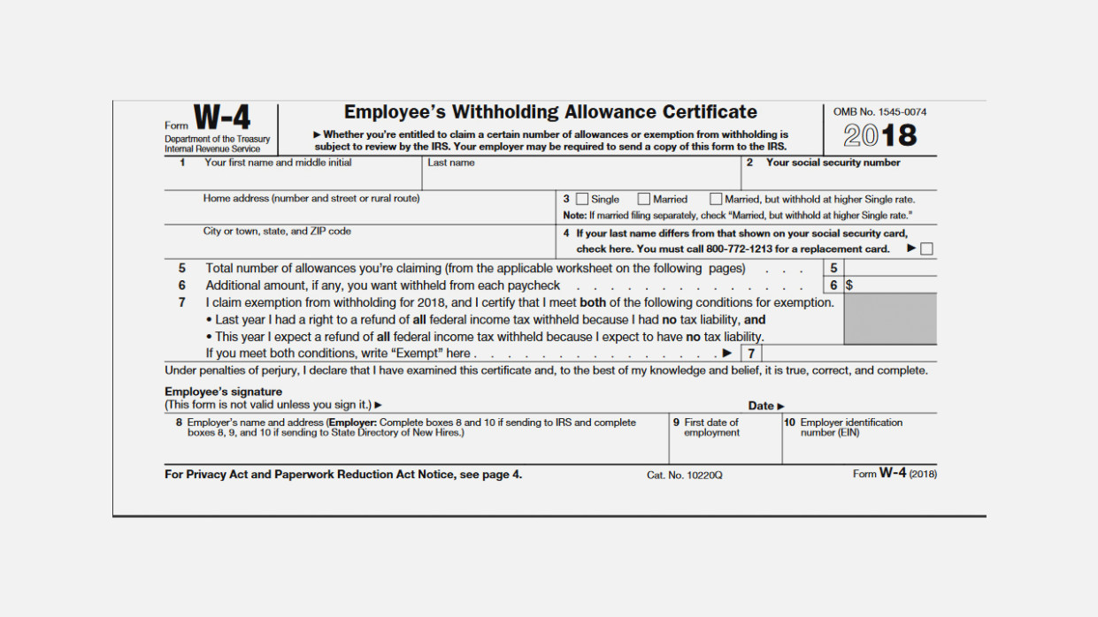 Irs Printable Forms 2018