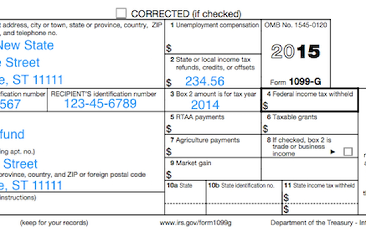 Understanding Your Tax Forms 2016: 1099 G, Certain Government Payments Throughout Irs 1099 Form 2016