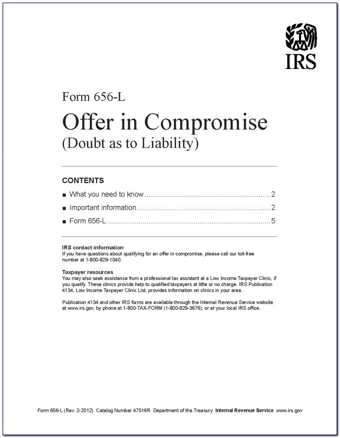Irs.gov Offer In Compromise Form