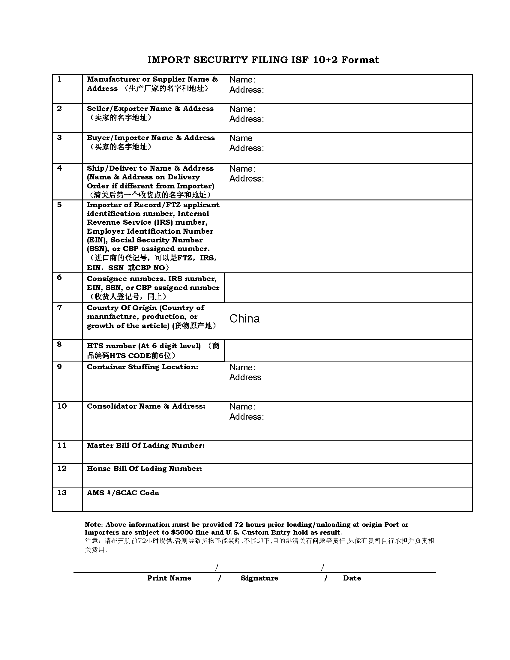 Isf 10+2 Form Excel