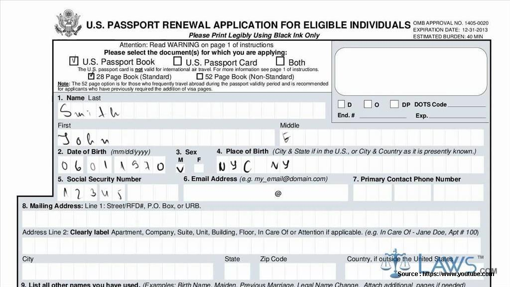 Jamaican Application Form To Renew Passport