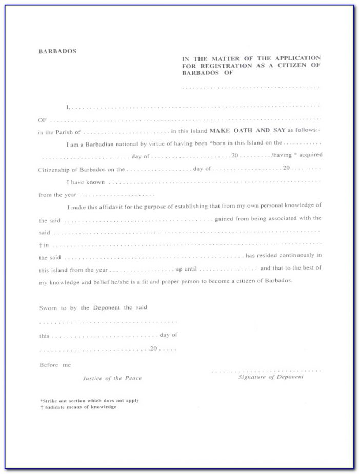 Jamaican Immigration Officer Application Form