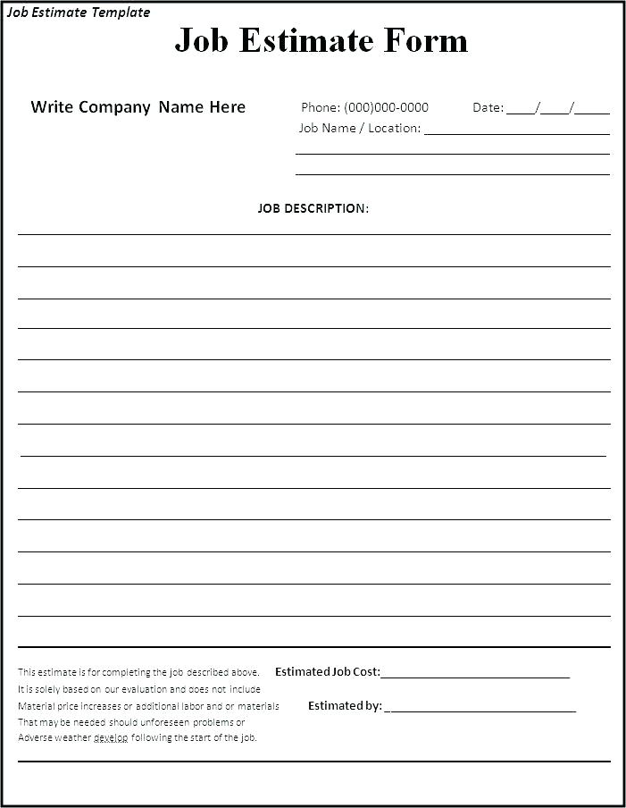 Janitorial Bid Proposal Forms