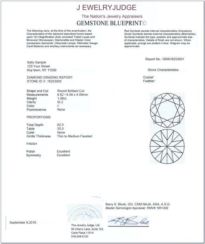 Jewelry Appraisal Form Pdf
