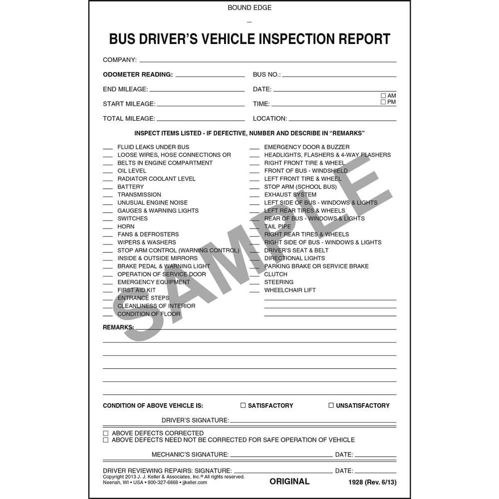 Jj Keller Truck Inspection Forms