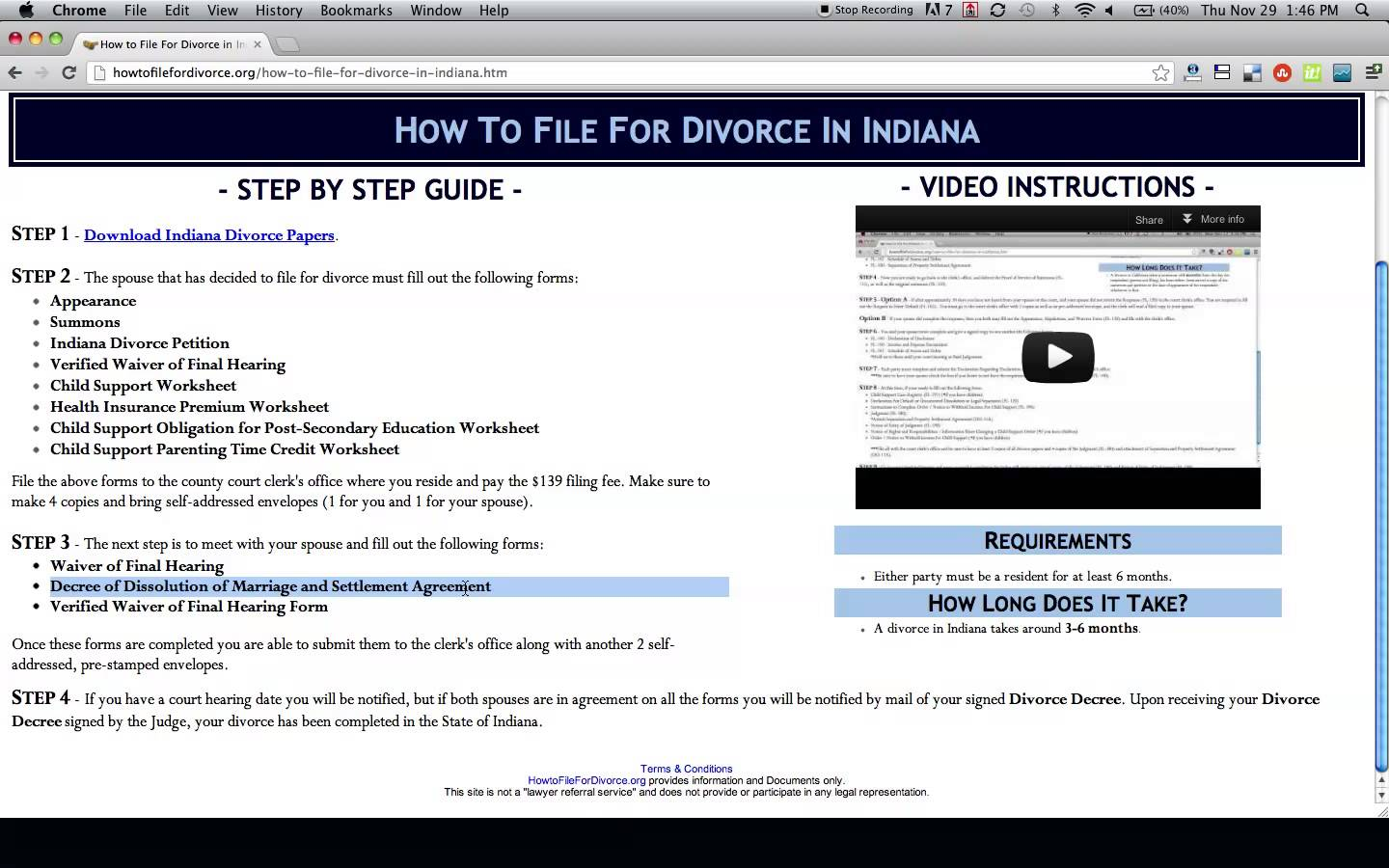 Johnson County Indiana Divorce Forms