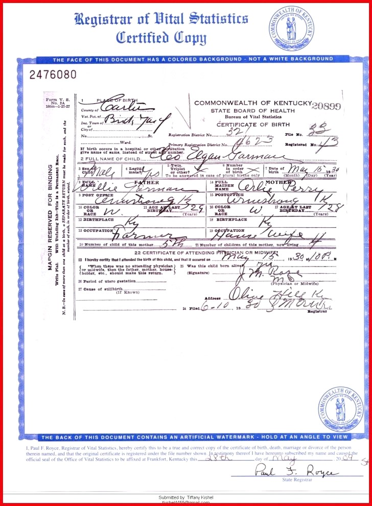 Kentucky Birth Certificate Form Lovely 49 Simple Request Birth Certificate Ky