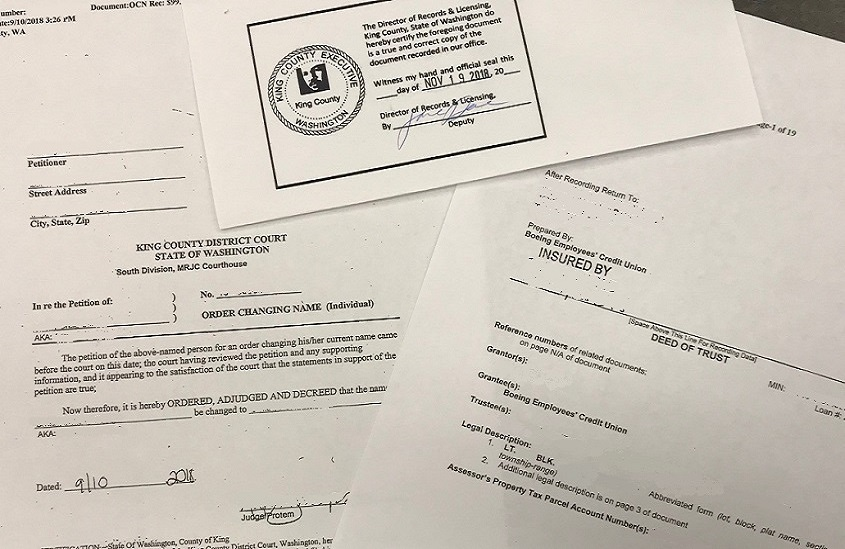 King County Divorce Filing Records