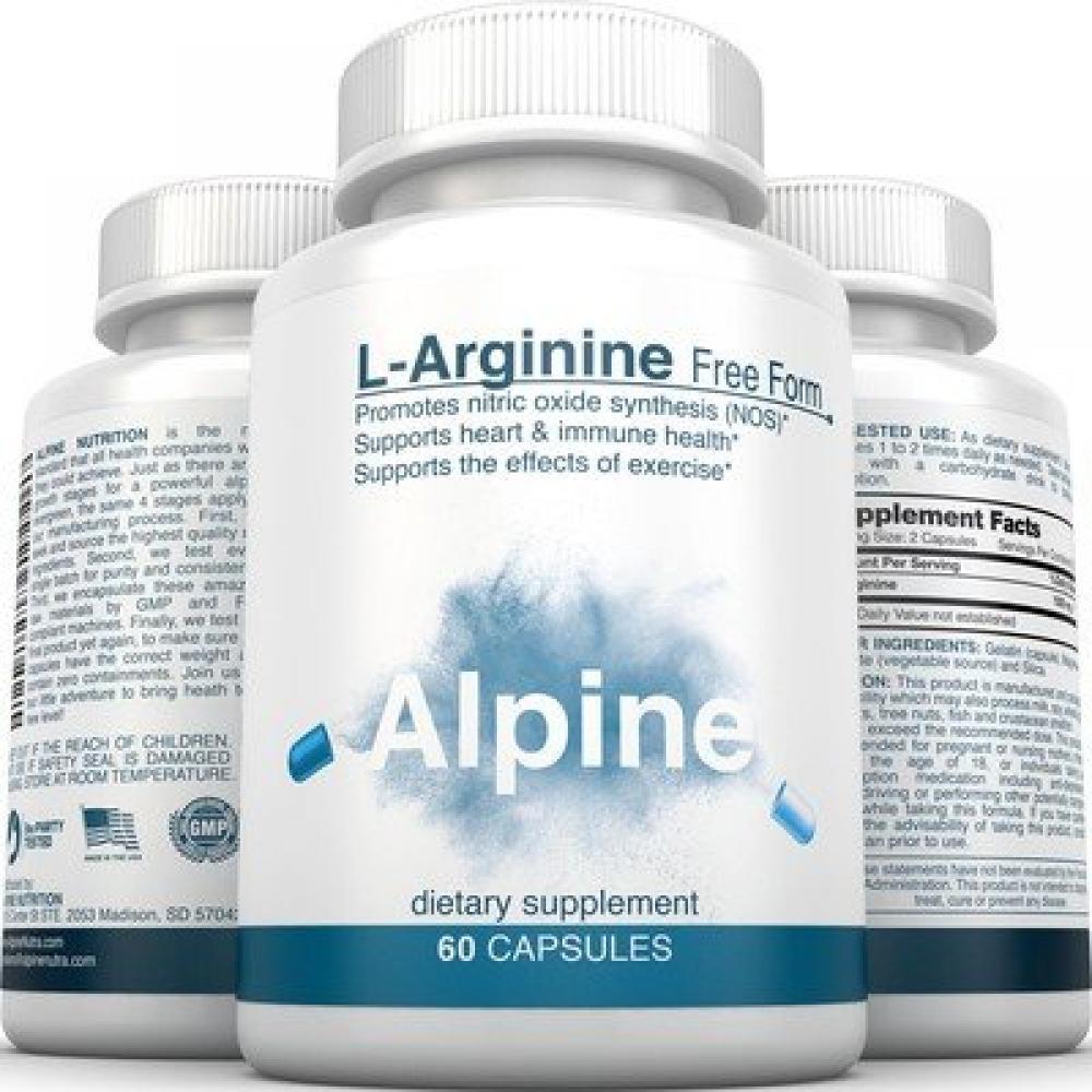 L Arginine 500mg Free Form Capsules