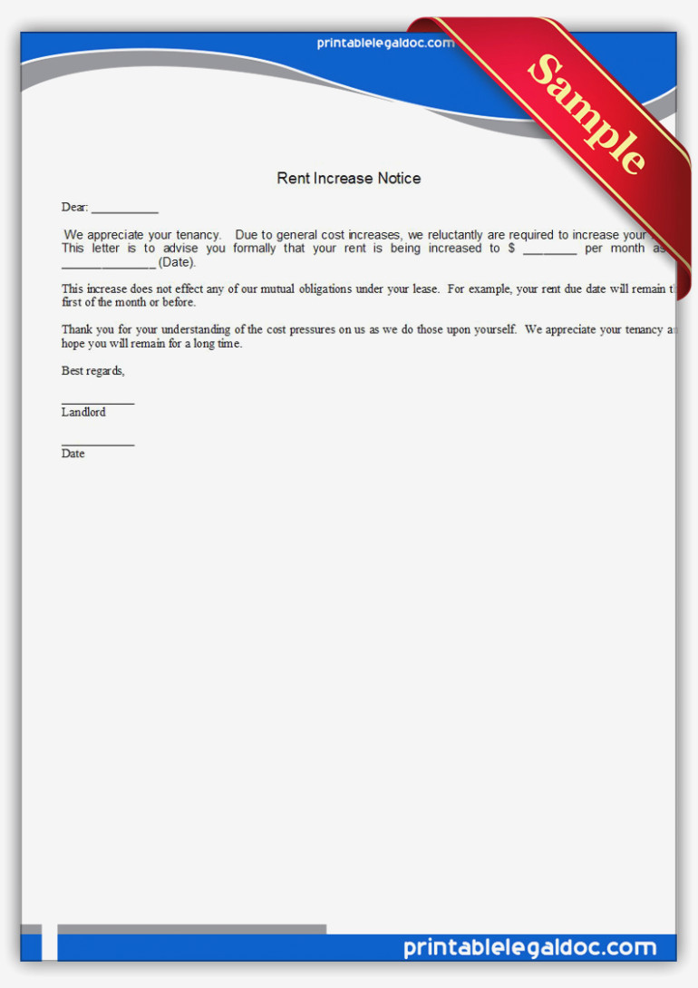 Landlord Forms Rent Increase