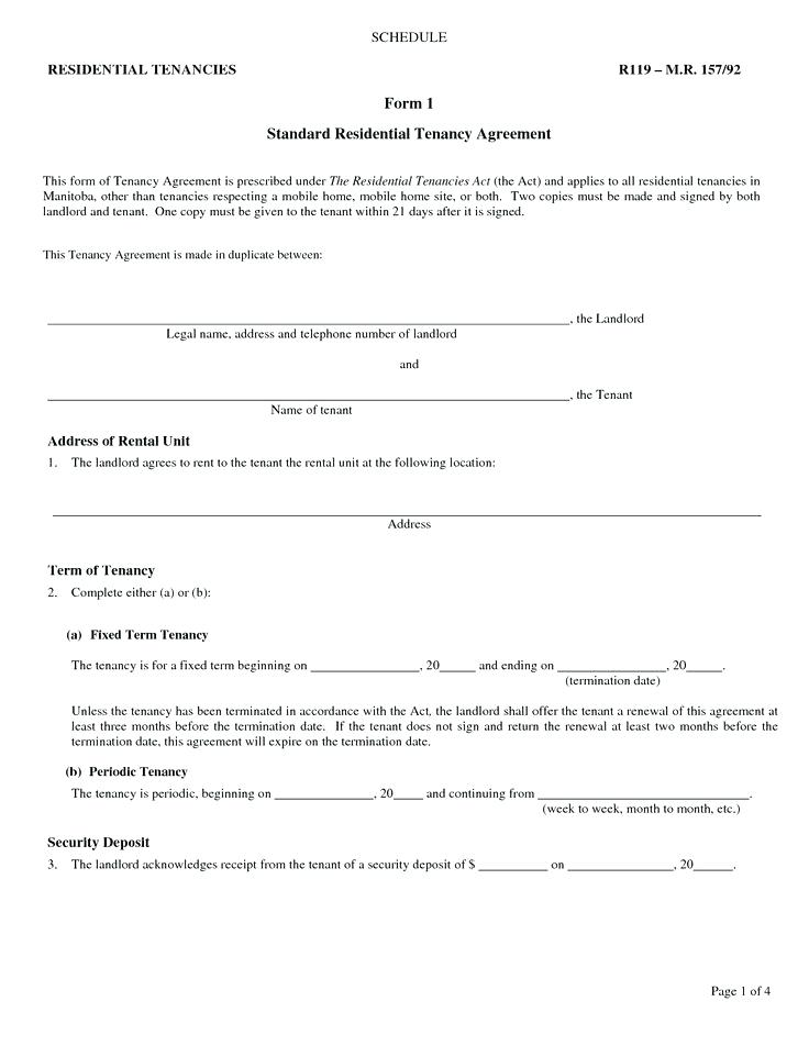 Landlord Tenancy Agreement Form Scotland