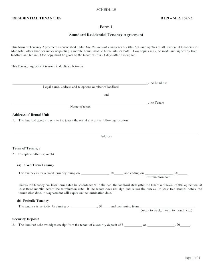 Landlord Tenant Contract Sample Uk