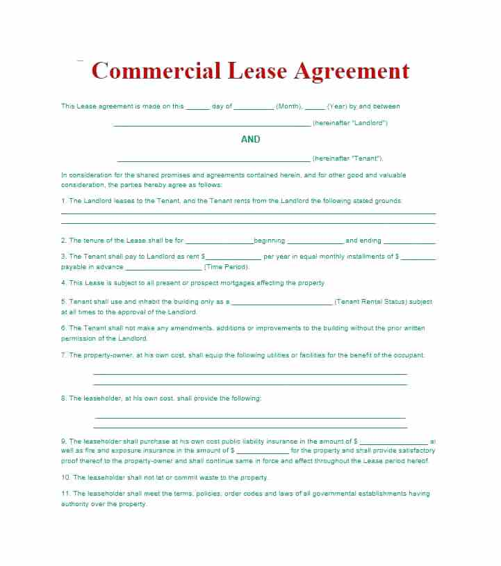 Landlord Tenant Rental Agreement Form Bc