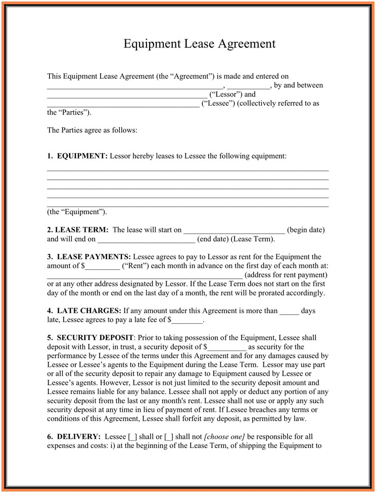 Lease Buyout Agreement Form