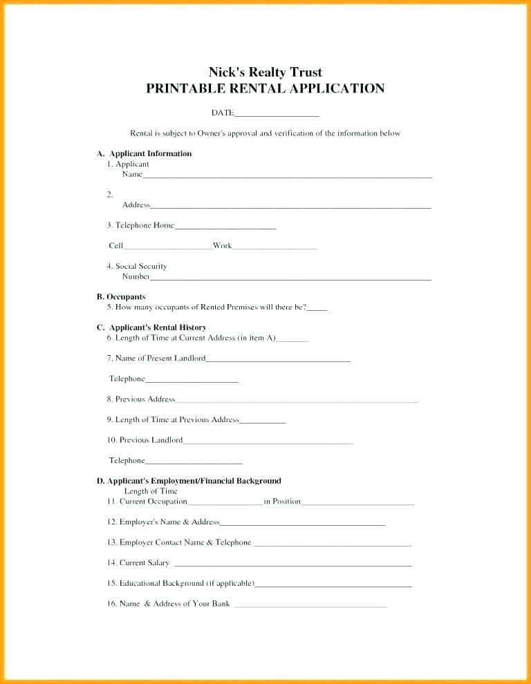 Lease Contract Forms Free